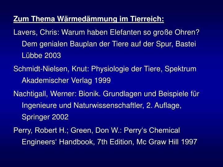 Zum Thema Wärmedämmung im Tierreich: