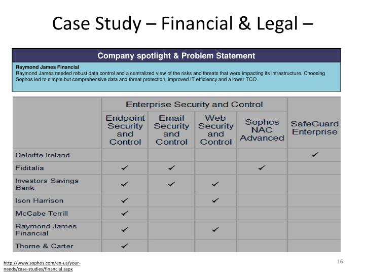 Case Study – Financial & Legal –