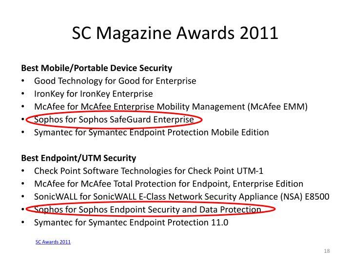 SC Magazine Awards 2011