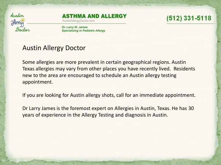 Austin Allergy Doctor