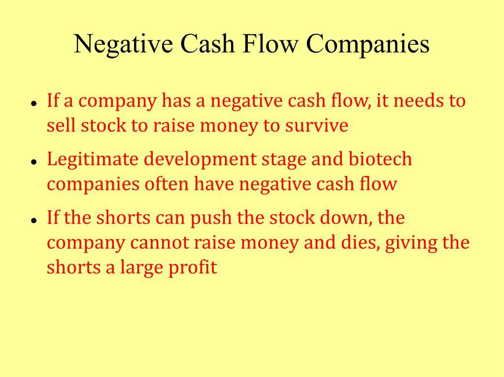 Negative Cash Flow Companies