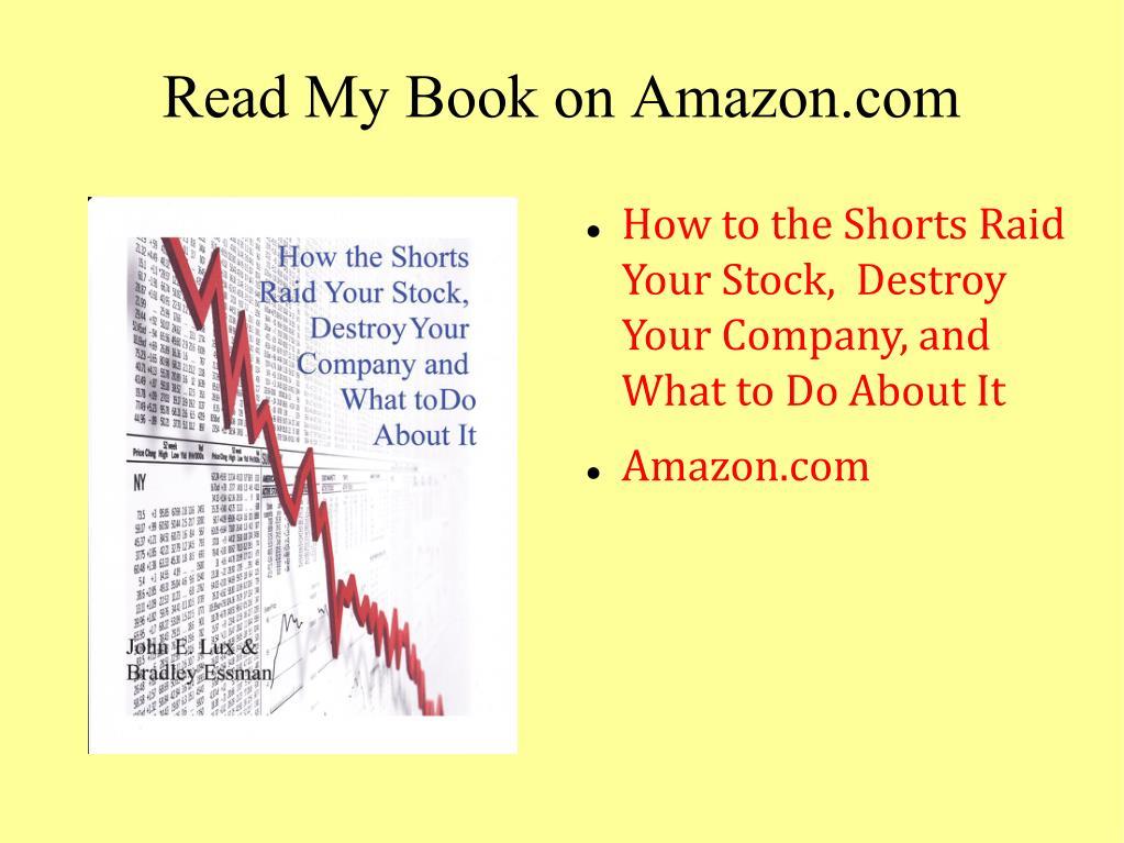 Read My Book on Amazon.com