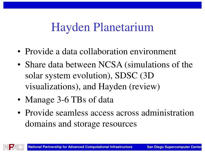 Hayden Planetarium