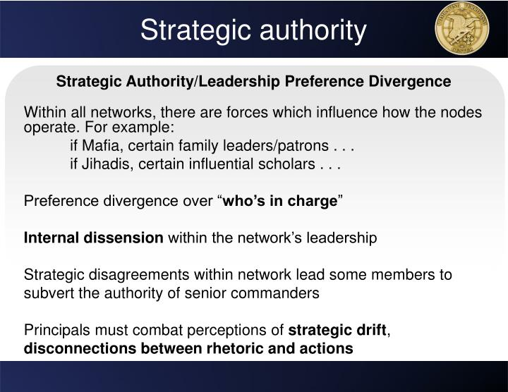 Strategic authority