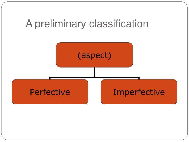A preliminary classification