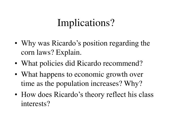 ricardos theory of distribution In this entry, emphasis will be placed on ricardo's contributions to the theory of  value, distribution, and capital accumulation for his views on money, taxation,.