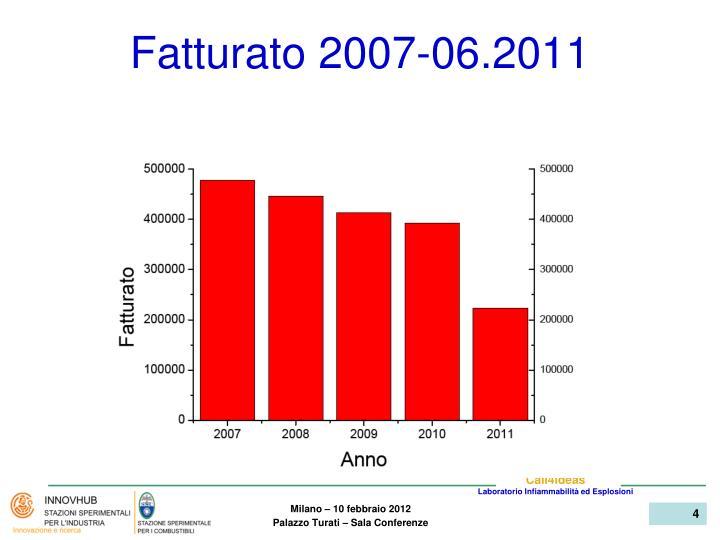 Fatturato 2007-06.2011