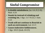 sinful compromise