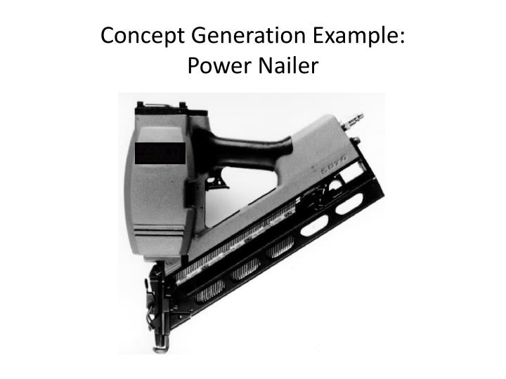 Concept Generation Example: