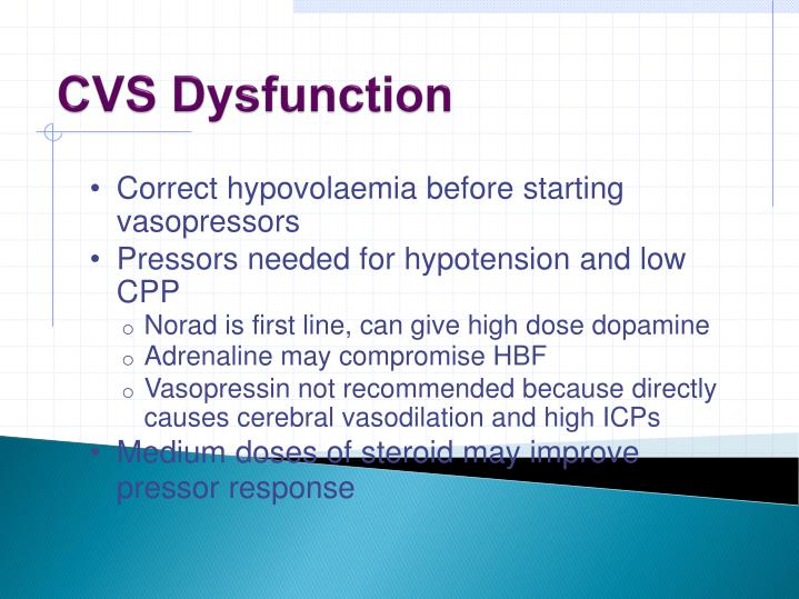 CVS Dysfunction
