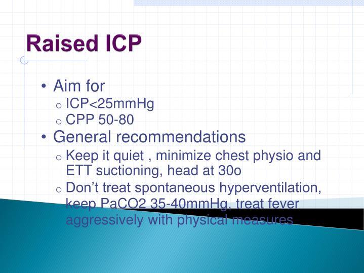Raised ICP