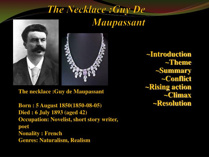 The essay writer necklace by guy de maupassant