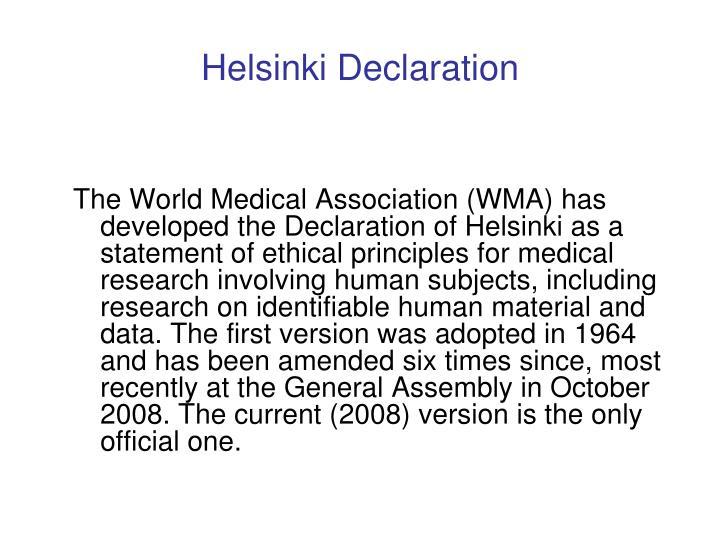 Helsinki Declaration