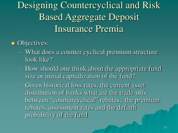 Designing Countercyclical and Risk Based Aggregate Deposit