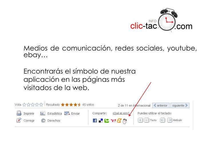 Medios de comunicación, redes sociales,