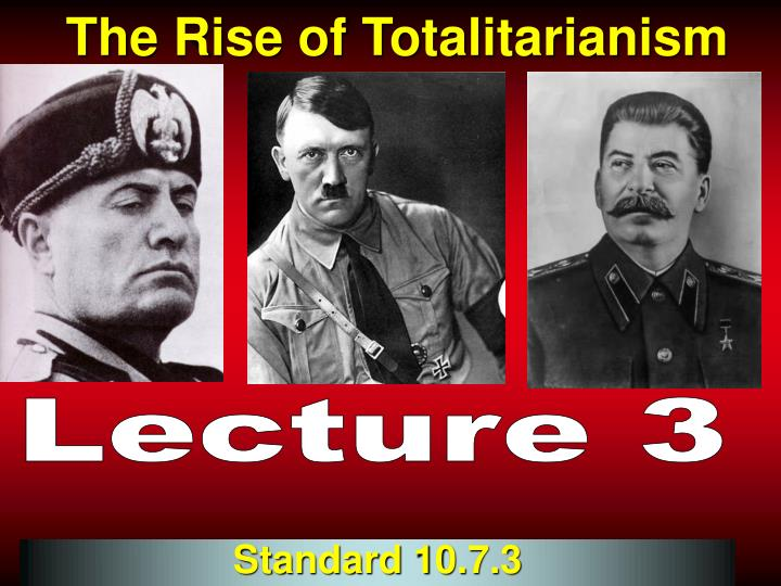 the rise of totalitarianism in europe A look at how totalitarian governments came to power in europe after world war i  » history totalitarianism in italy and germany  rise of totalitarianism .