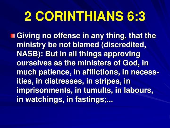 2 CORINTHIANS 6:3