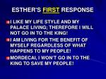 esther s first response1