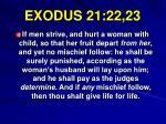 exodus 21 22 23