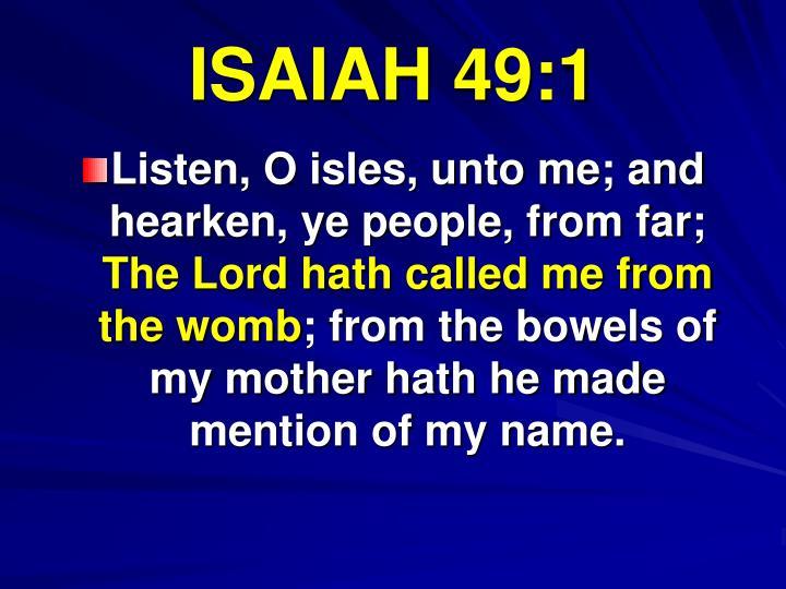 ISAIAH 49:1