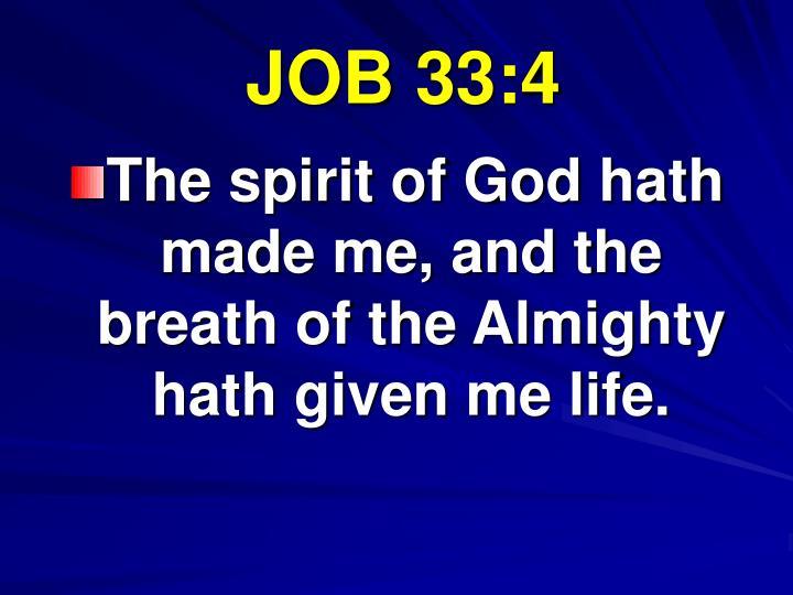 JOB 33:4
