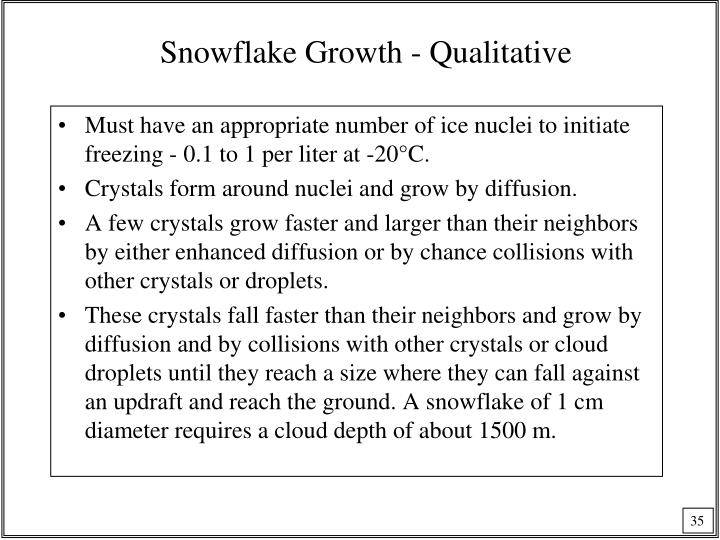 Snowflake Growth - Qualitative
