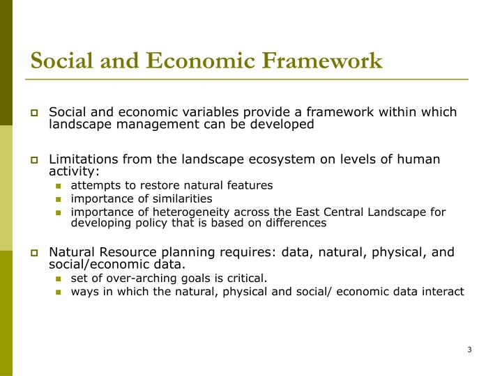 Social and Economic Framework