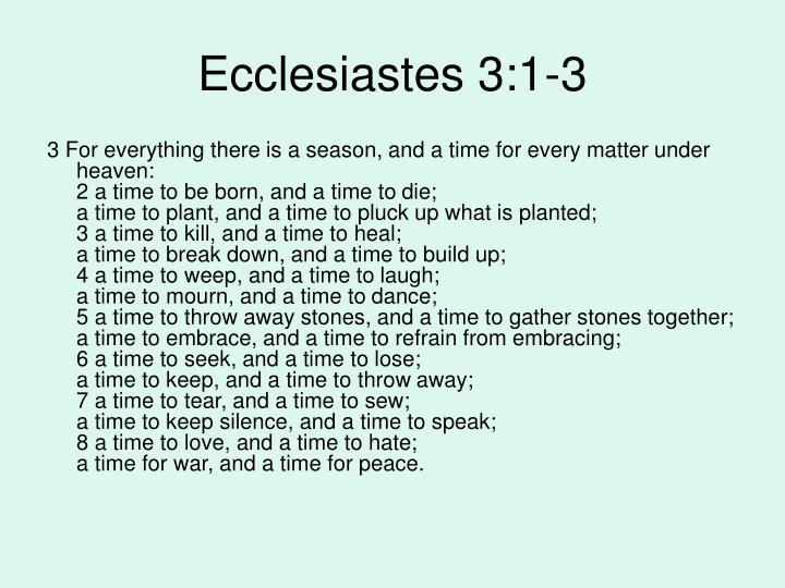Ecclesiastes 3:1-3