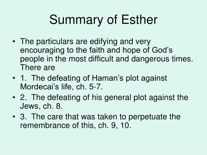 Summary of Esther