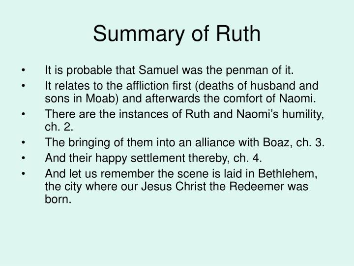 Summary of Ruth