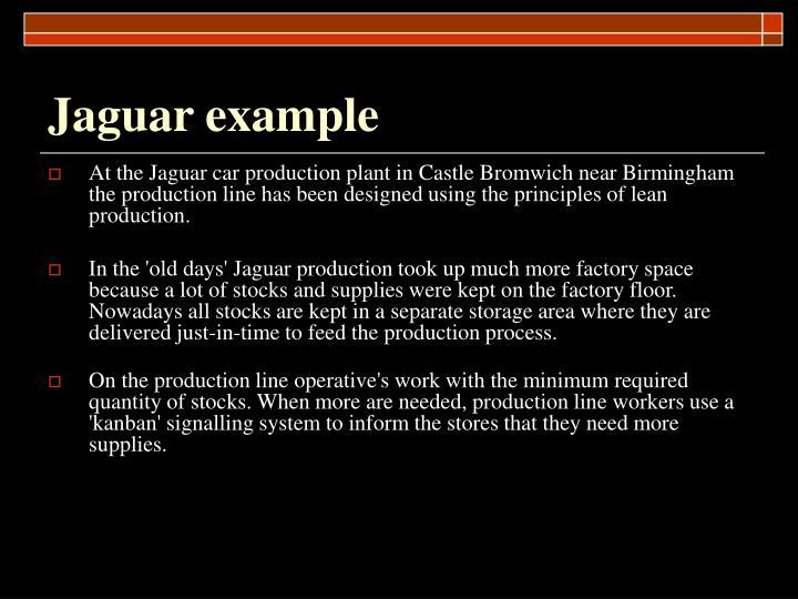 Jaguar example