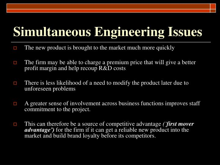 Simultaneous Engineering Issues