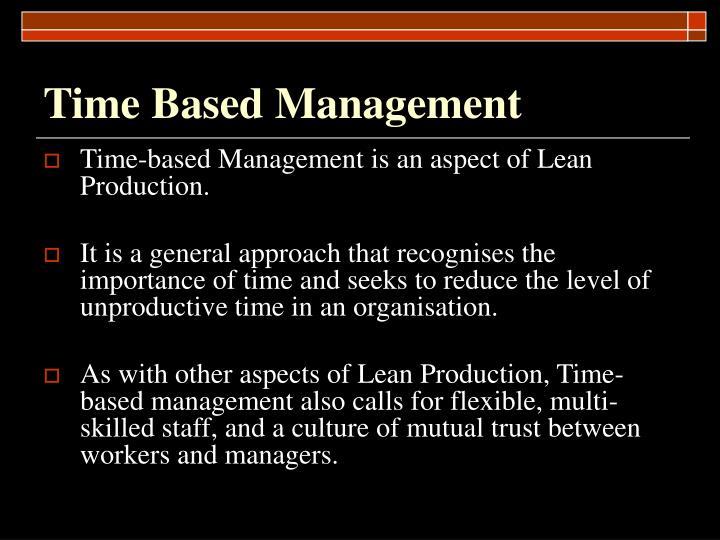 Time Based Management