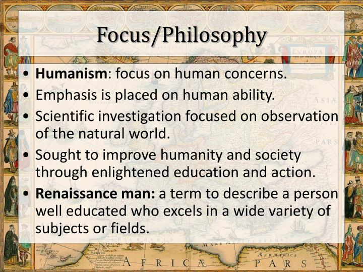 Focus/Philosophy