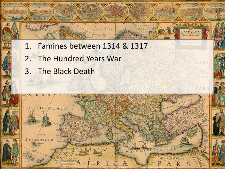 Famines between 1314 & 1317