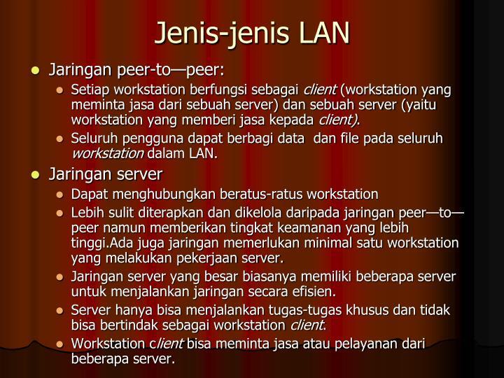 Jenis-jenis LAN