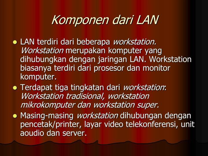 Komponen dari LAN