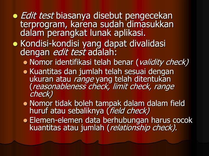 Edit test