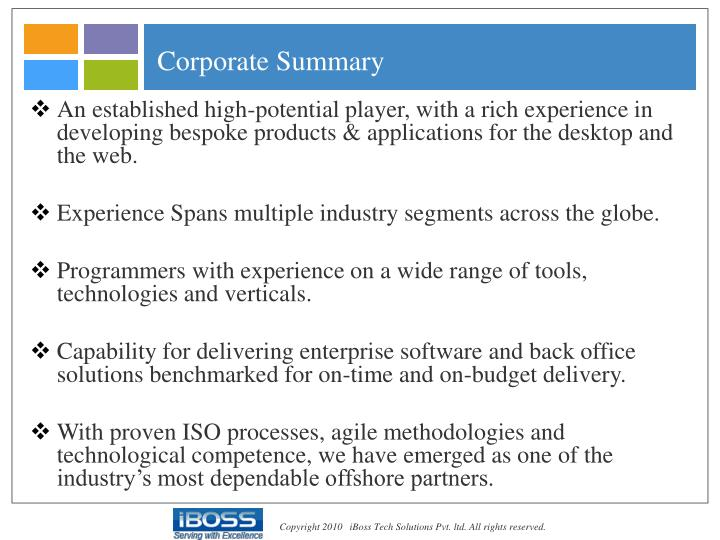Corporate Summary