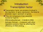 introduction transcription factor