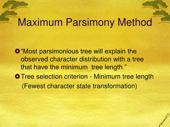 Maximum Parsimony Method