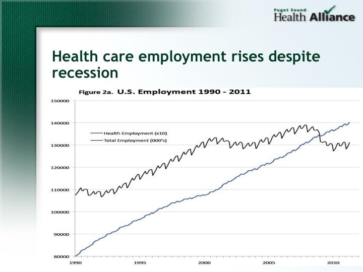 Health care employment rises despite recession