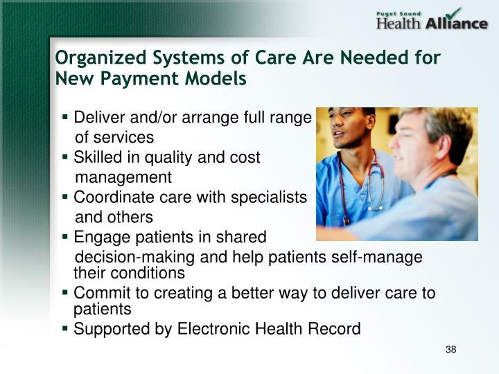 Organized Systems of Care Are Needed for New Payment Models