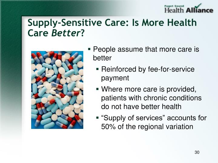 Supply-Sensitive Care: Is More Health Care