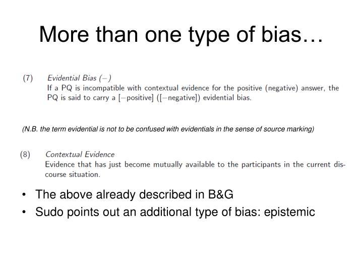 More than one type of bias…