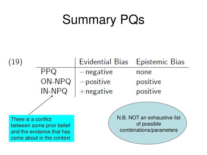 Summary PQs