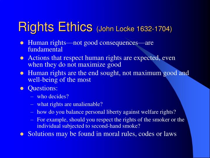 Rights Ethics