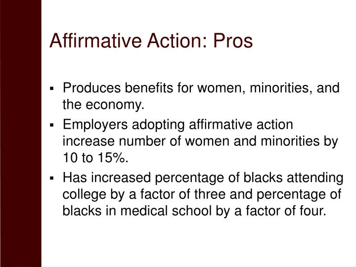 Affirmative Action: Pros