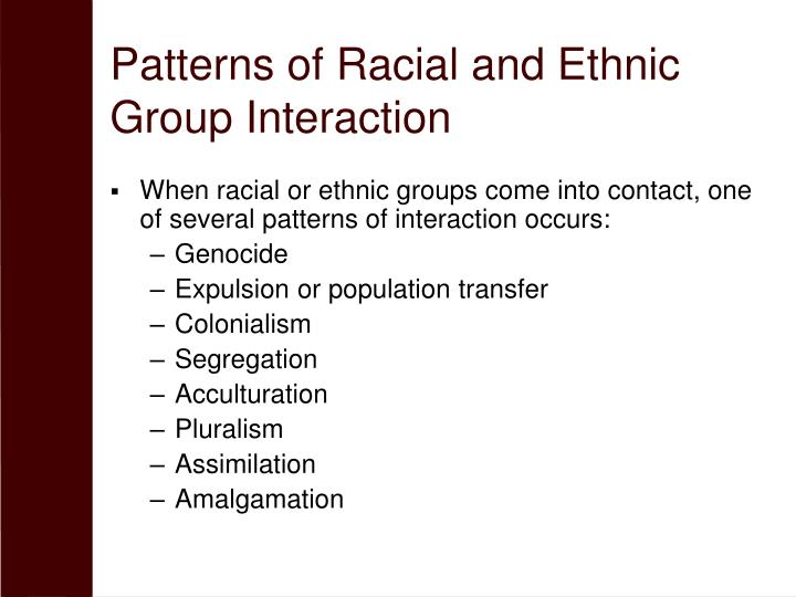 Patterns of Racial and Ethnic Group Interaction