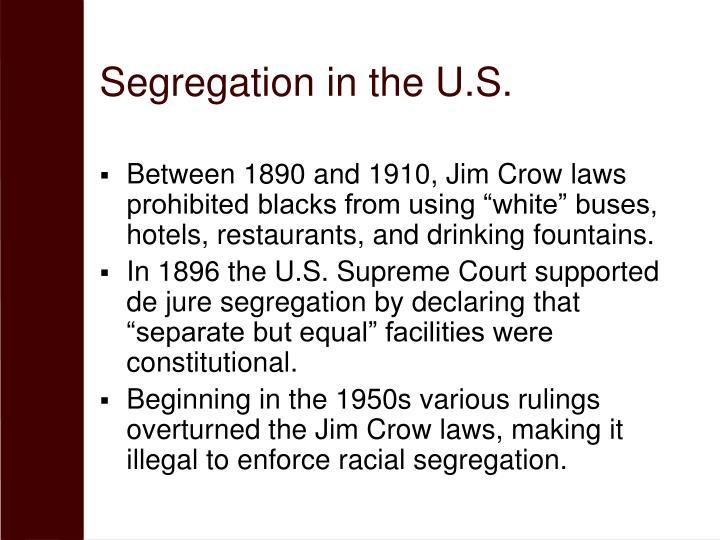 Segregation in the U.S.